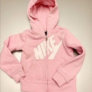 Nike   Girls Toddlers Full Zip Logo Hoodie   2-3T